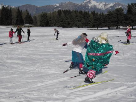 Carnaval des enfants en ski de fond