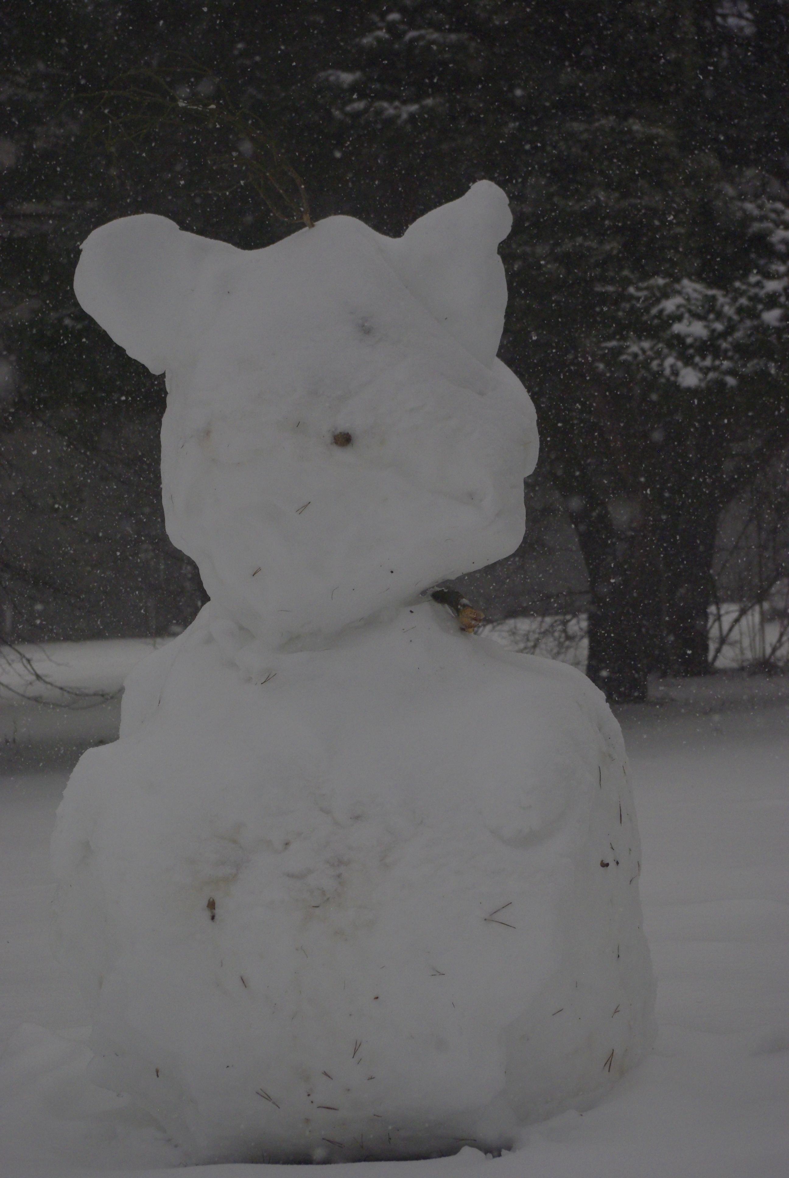 sculpture de la neige avec le Préclub