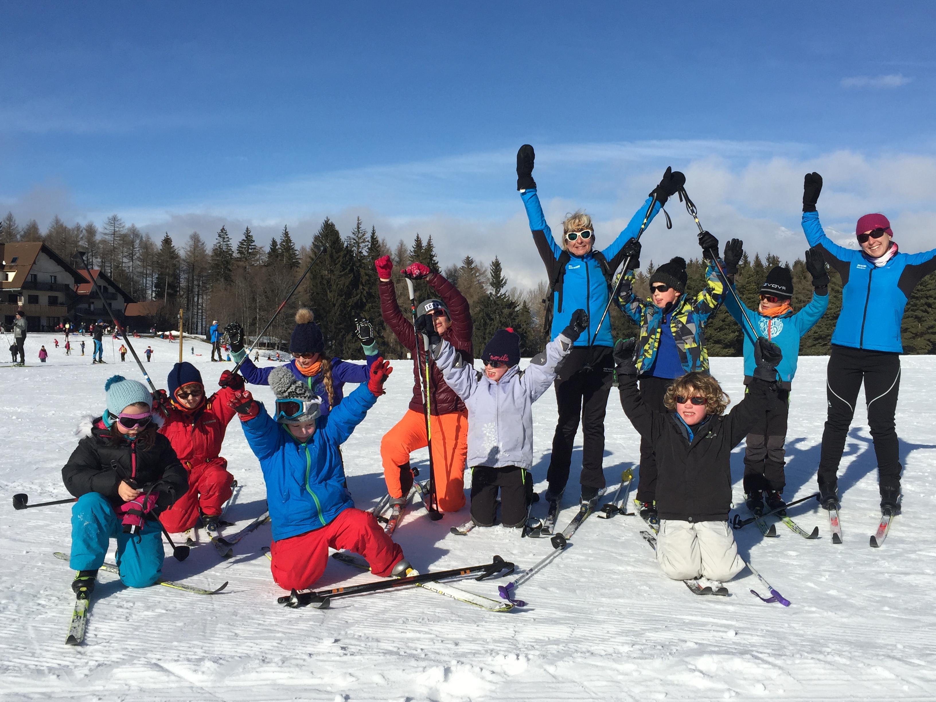Stage enfant avec l'Ecole de ski de Bayard, véritable cocktail nordic