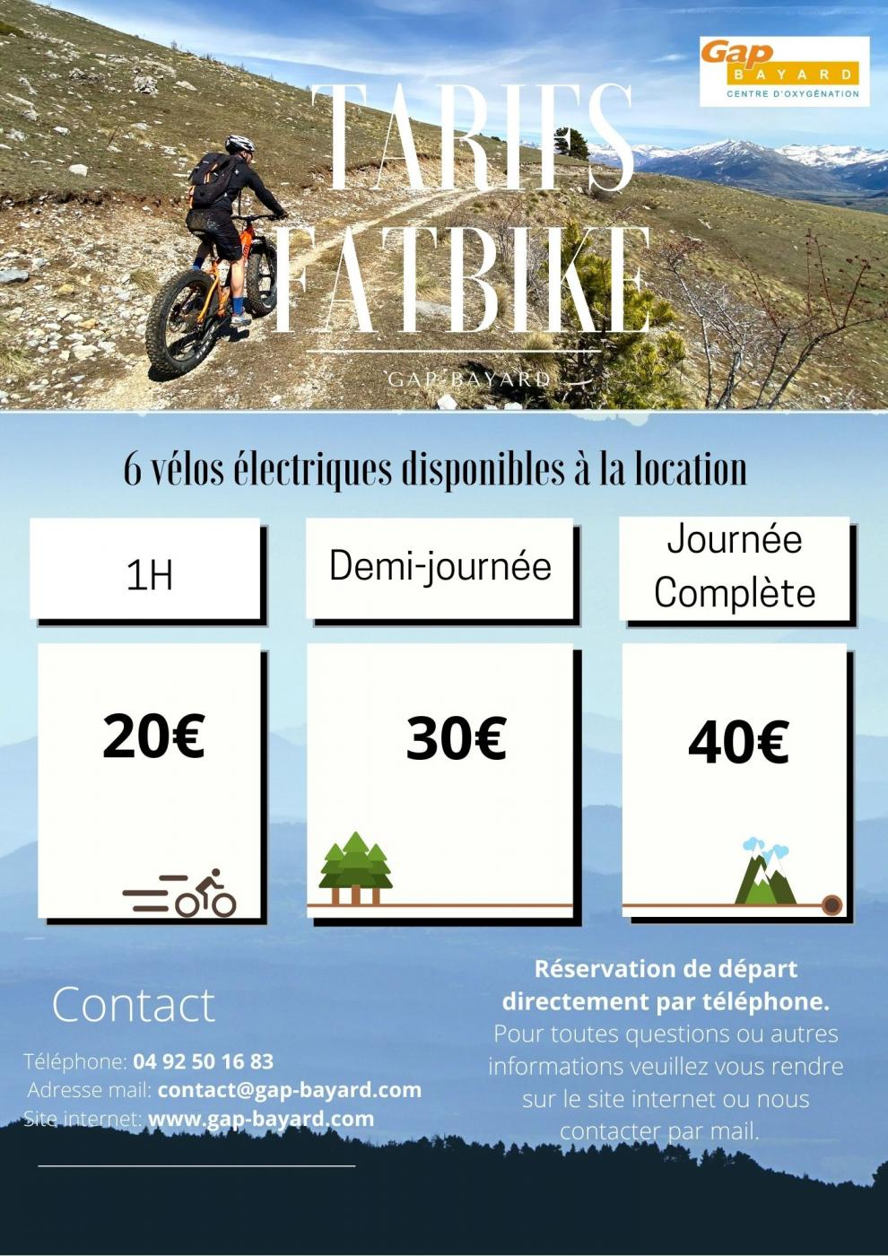 tarif fatbike, vélo électrique Bayard