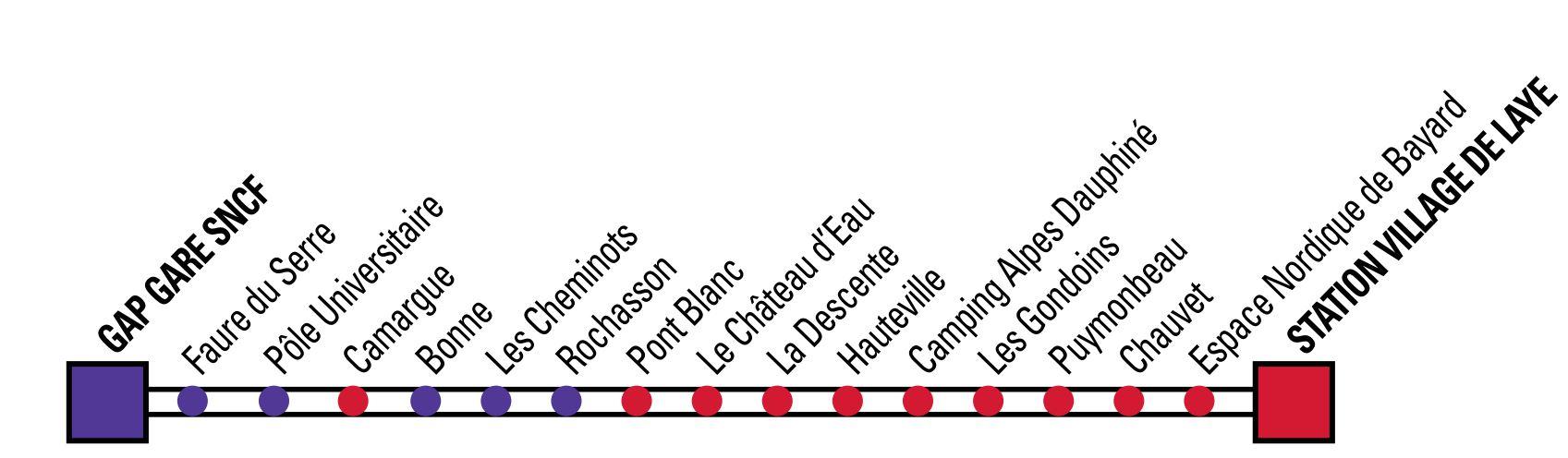 Arrêt navette Gap - Bayard - Laye