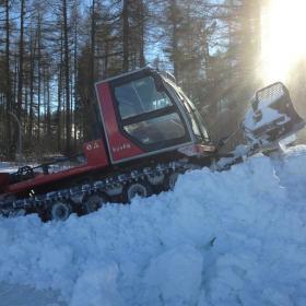 Travail de la neige de culture