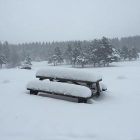 50 cm de neige fraiche le 7 mars au Centre d'Oxygénation