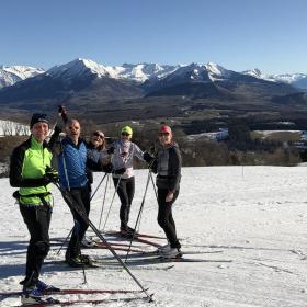Premiers skieurs de fond sur le Col de Gleize le 1er jour de l'an 2020