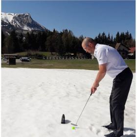 Jean DOYER Golf sur neige à Bayard