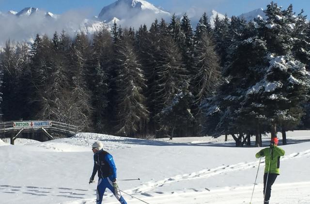 Vue imprenable sur le Vieux Chaillol depuis le stade de neige