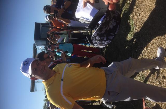 Sergio Garcia se prête au jeu des autographes très volontiers
