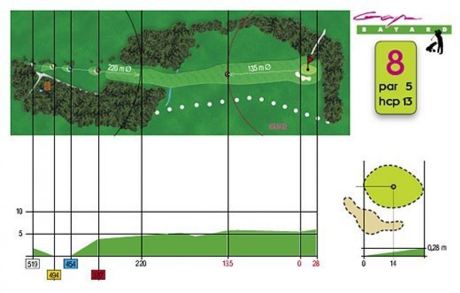 Fiche technique trou n°8 du Golf de Gap Bayard